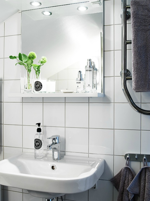 Lavadora En Un Baño Pequeno Es Posible:Ideas y consejos de como decorar vivienda de 34M2