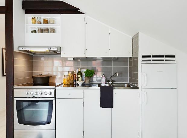 Ideas y consejos de como decorar vivienda de 34m2 - Como distribuir una cocina ...