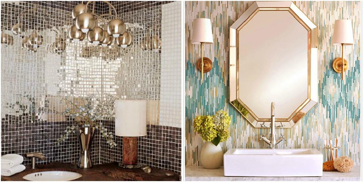 Baño con espejos